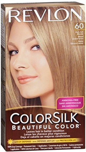 Revlon ColorSilk Hair Color 60 Dark Ash Blonde 1 Each by ...
