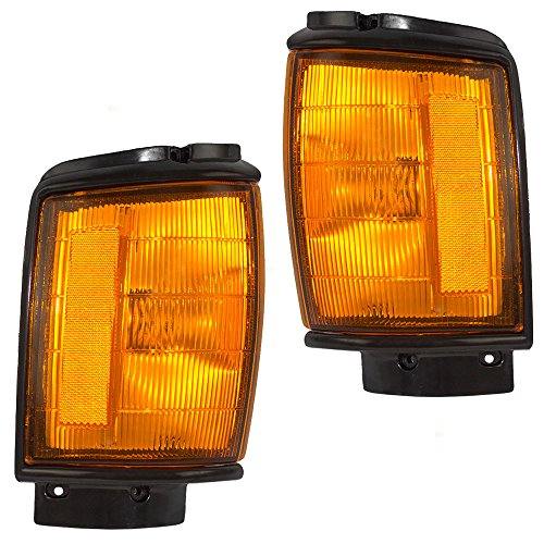 Driver and Passenger Park Signal Corner Marker Lights Lamps with Painted Trim Replacement for Toyota Pickup Truck SUV 8162089143 8161089143