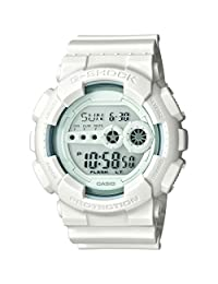 Casio GD100WW-7 Men's G-Shock White Resin Strap Digital Grey Dial World Time Alarm Dive Watch