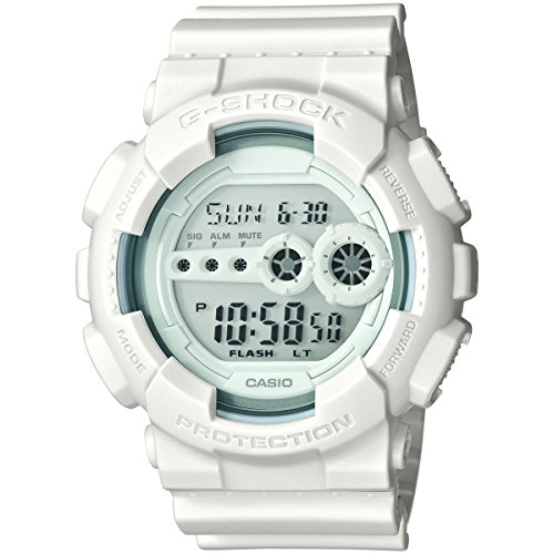 Casio G Shock GD100WW 7CS Whiteout Stopwatch