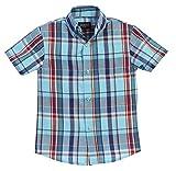 Gioberti Boys Casual Plaid Checked Short Sleeve Button Down Shirt
