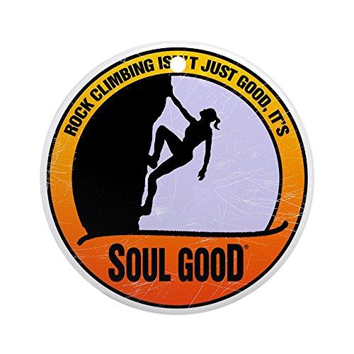 CafePress Rock Climber Female - Soul Good Round Holiday Christmas Ornament