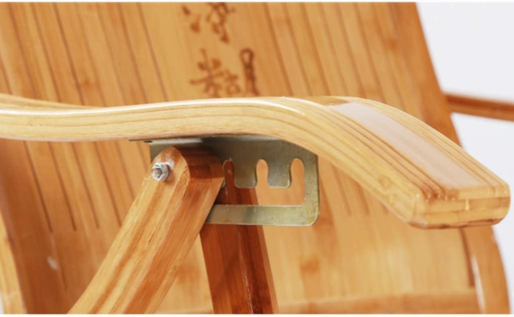 Silla Plegable, Silla de Mecedora de bambú Ajustable al Aire Libre Plegable Silla de terraza Silla de salón B