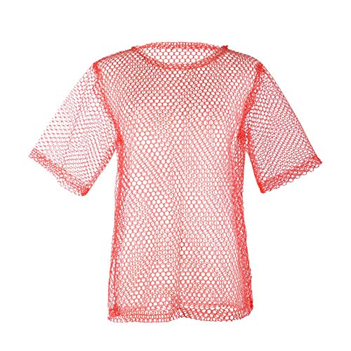 (Wraith of East Unisex 80s Fishnet Shirt String Vest Pop Punk Rocker Mesh Club Top Costumes)