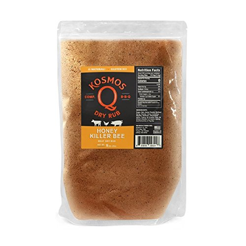 Kosmos Q Honey Killer Bee BBQ Rub | Sweet & Savory Blend | Great on Brisket, Steak, Chicken, Ribs & Pork | Best Barbecue Rub | Meat Seasoning & Spice Dry Rub | 1 lb Bag