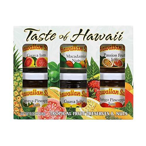 Hawaiian Sun Jam and Jelly Fruit Preserves (Jam Gift Set, 6 Sample Jars)