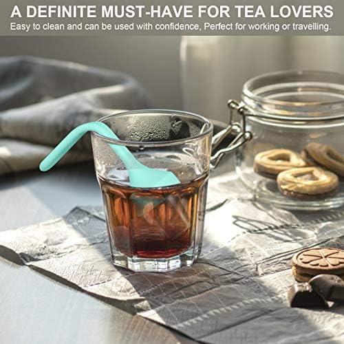 Fenshine Tea Infuser, Extra Fine Mesh Tea Cup Filter Silicone Handle Stainless Steel Tea Strainer Loose Tea Steeper for Loose Leaf Tea or Herbal Tea