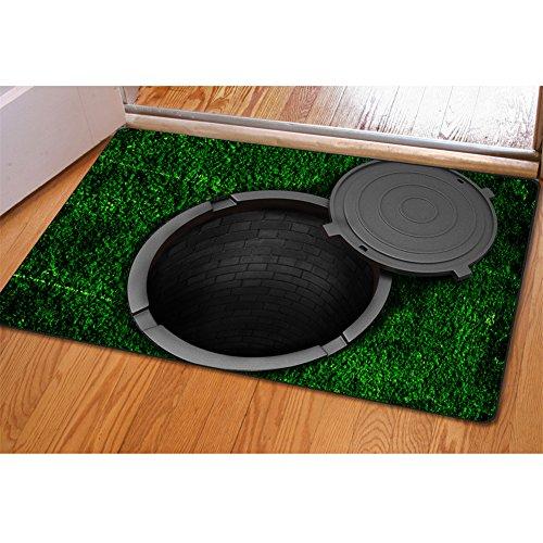 HUGS IDEA Funny Green False Trap Pattern Outdoor Indoor Door Floor -