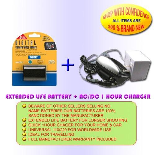 BATTERY 1HR CHARGER FOR SONY HC36 HC96 HC46 HC65 HC85 DCR-DVD305 DCR-DVD405 DCR-DVD205 DCR-DVD105 NP-FP71 by Digital Concepts