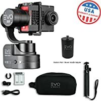 EVO SS 3 Axis Wearable Gimbal - Stabilizer for GoPro Hero4, Hero5, Hero6 Black, Yi 4K+, Garmin Virb Ultra 30 - 1 Year USA Warranty | Bundle Includes: EVO SS Gimbal + EVO PA-100 Painters Pole Adapter