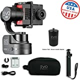 EVO SS 3 Axis Wearable Gimbal - Stabilizer for GoPro Hero4, Hero5, Hero6 Black, Yi 4K+, Garmin Virb Ultra 30 - 1 Year USA Warranty | Bundle Includes: EVO SS Gimbal + EVO PA-100 Painter's Pole Adapter