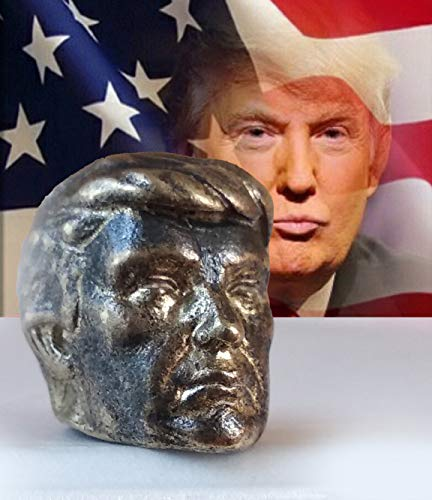Collectible Donald Trump Thimble Bronze President - Young Trump - Souvenir Thimbles in a Burlap Bag