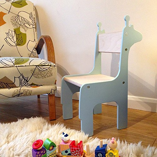 Handmade wooden Giraffe Children's Chair. Available in a choice of colours. Suitable for 18 months - 8 years.
