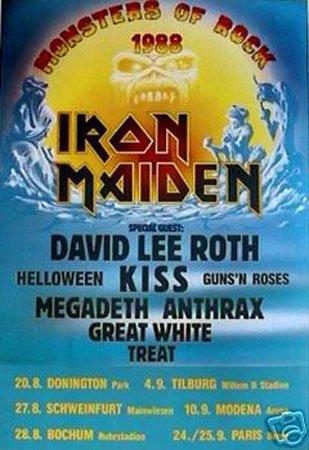 Hot Stuff Enterprise 3970-24x36-MU Iron Maiden Monsters of Rock Poster from Hotstuff