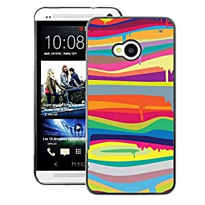 A-type Arte & diseño plástico duro Fundas Cover Cubre Hard Case Cover para HTC One M7 (Colors Lines Abstract Colorful)