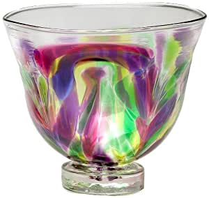 Kitras Small Glass Bowl Feather, Winter Carnival