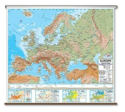 Amazon.com: Advanced Physical Map - Europe: Geographic Globes ...
