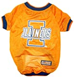NCAA Dog Jersey, Large, University of Illinois Fighting Illini