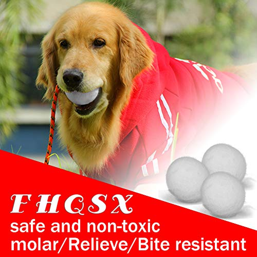 FHQSX Wool Dryer Balls Organic XL 6-Pack, Reusable Natural Fabric Softener, Reduces Wrinkles,Dryer Sheets Alternative