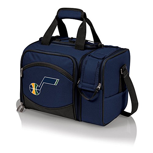 NBA Utah Jazz Malibu Insulated Shoulder Pack with Deluxe Picnic Service for Two