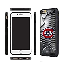 CHICEXP Montreal Canadiens iPhone 6/6s TPU Shell Cover Case, with Tempered Glass Screen Protector