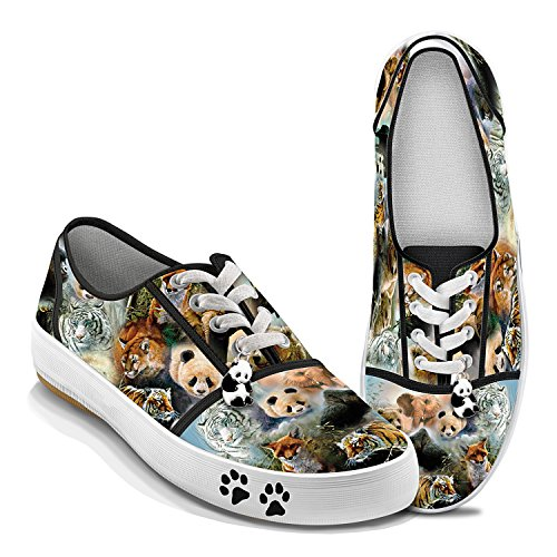 Wildlife Art Women's Canvas Shoes: Protect The Wild by The Bradford Exchange