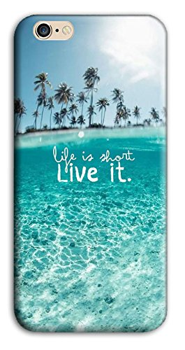 Mixroom - Cover Custodia Case In TPU Silicone Morbida Per Apple Iphone 6 6s X381 Life Is Short Live It