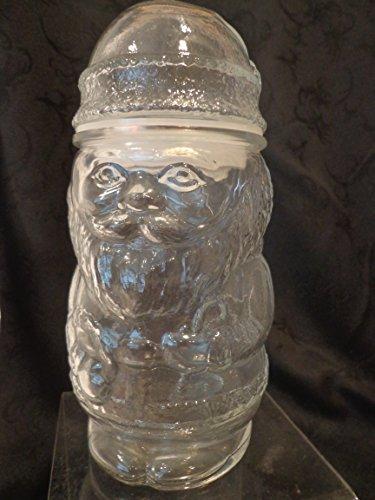Glass Santa Claus Shaped Candy Jar, Santa Candy Jar, Santa Jar, Christmas Candy Jar, (Bulk Candy Jars)