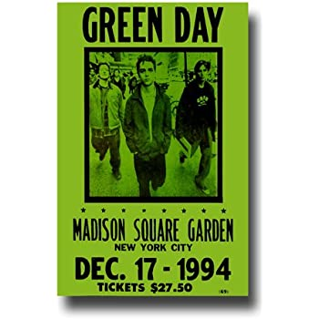 Amazon.com: Green Day Concert Poster, Madison Square Garden, New ...