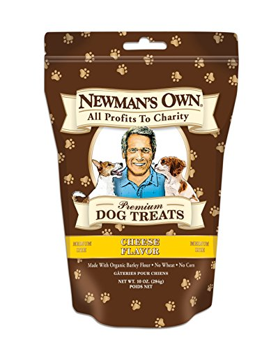 Newman's Own Premium Dog Treats, Cheese, Medium Size, 10-Ounce Bags (Pack of 6)