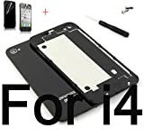 iphone 4 back cover - Battery Cover For iPhone 4 4S Back Cover Door Rear Panel Plate Glass Housing Replacement + Tools (Black For iPhone 4)