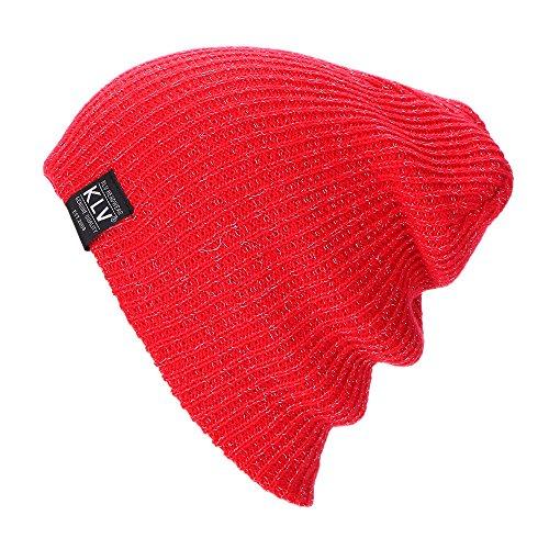 URIBAKE ❤ Unisex Baggy Beanie Crochet Winter Warm Solid Wool Knitted Ski Skull Slouchy Caps Hat -