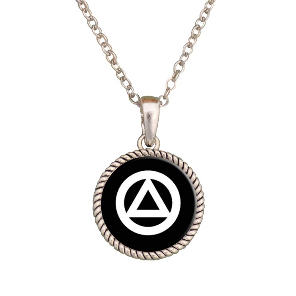 Lola Bella Gifts Crystal AA Alcoholics Anonymous Support Pendant Necklace with Gift Box