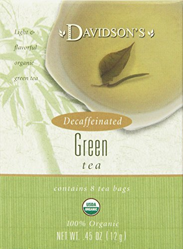 Davidson's Tea Decaf Green Tea, 8-Count Tea Bags (Pack of 12)