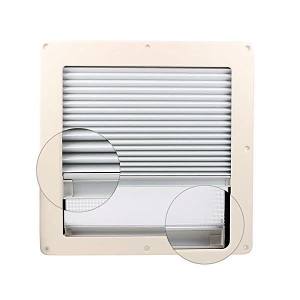 51M76rwQJkL Dachfenster Remis Remitop Vista 40 x 40 cm Klar + Dekalin Dichmittel für Wohnwagen oder Wohnmobil