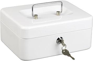 Alco 841-10 - Caja Fuerte metálica de caudales, 14 x 19 cm, Color Blanco: Amazon.es: Hogar