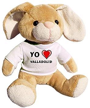 Shopzeus Conejito de Peluche (Juguete) con Amo Valladolid en la Camiseta (Ciudad /