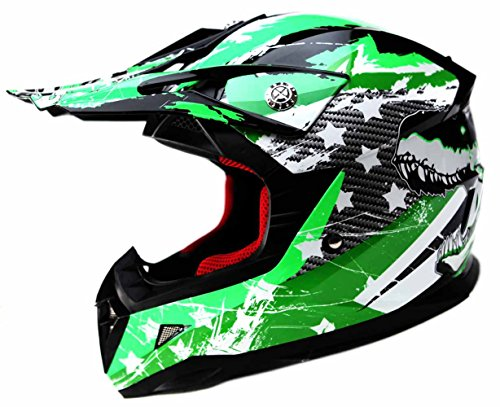 Motocross Youth Kids Helmet DOT Approved - YEMA YM-211 Motorbike Moped Motorcycle Off Road Full Face Crash Downhill DH Four Wheeler Helmet for Street Bike Dirt Bike BMX ATV Quad MX Boys Girls, Large