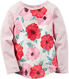 Carter\'s Baby Girls Knit Fashion Top, Print, 24 Months