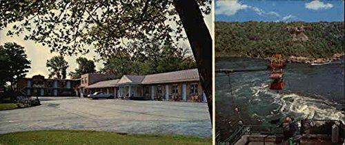 Shady Rest Motel and Spanish Aero-Car Niagara Falls, Ontario Canada Original Vintage Postcard Motel Old Cars