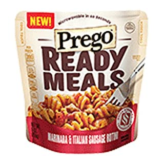 Prego, Ready Meals, 9oz Pouch (Pack of 4) (Choose Flavors Below) (Marinara & Italian Sausage Rotini)