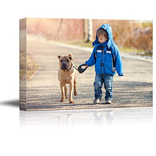 SIGNFORD Custom Canvas Prints, Child Pets Personalized Poster Wall Art with Your Photos Wood Frame Digitally Printed - 11x14 Inch