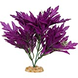 Imagitarium Purple Bunch Silk Aquarium Plant, Medium