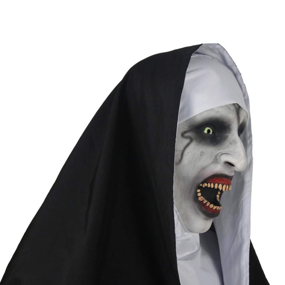 para Cosplay Cara Completa y pa/ñuelo para la Cabeza bromas Leezo M/áscara de l/átex para Halloween para Adultos y ni/ños