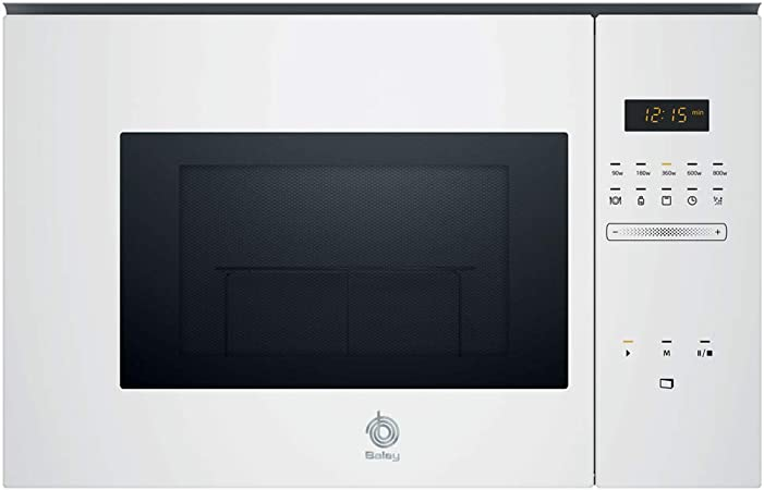 Oferta amazon: Balay 3CG5172B0 Microondas integrable Serie Cristal, 20L, 800W, Grill 1000W, Control táctil, Color blanco