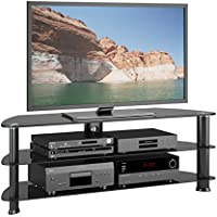 CorLiving TRL-501-T Laguna Stand for TV Up to 60-Inch, Satin Black