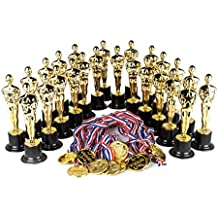 """Award Medal of Honor Trophy Award Set of 48; Includes 24 Gold Winner Award Medals; 24 Gold Award Trophy Statues 6"""""""