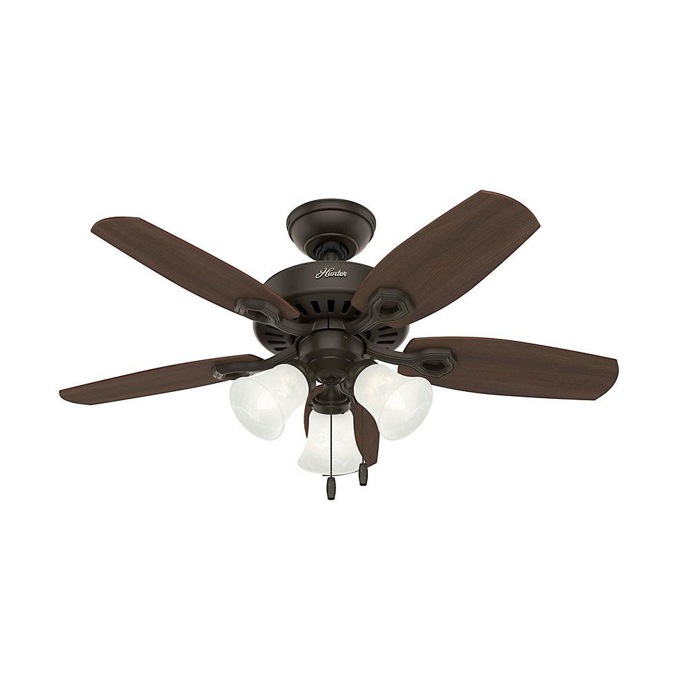 Hunter 52107 builder small room 42 inch new bronze ceiling fan with hunter 52107 builder small room 42 inch new bronze ceiling fan with five brazilian cherryharvest mahogany blades and a light kit amazon mozeypictures Images