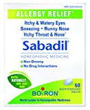 Image of Boiron Sabadil allergy relief tablets, 60 Count