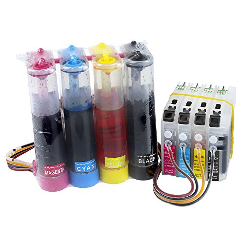 CISinks Continuous Ink Supply System for Brother Printers (LC103 LC101) - DCP and MFC Series - Continuous Cartridges System Ink